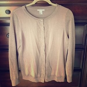 H&M Taupe shimmer cardigan - L